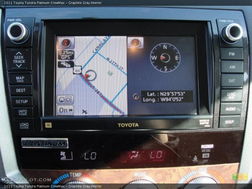 Graphite Gray Interior Navigation for the 2011 Toyota Tundra Platinum CrewMax #42660112