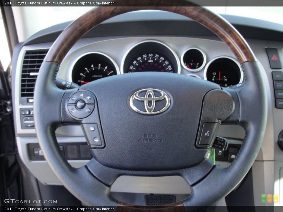Graphite Gray Interior Steering Wheel for the 2011 Toyota Tundra Platinum CrewMax #42660196