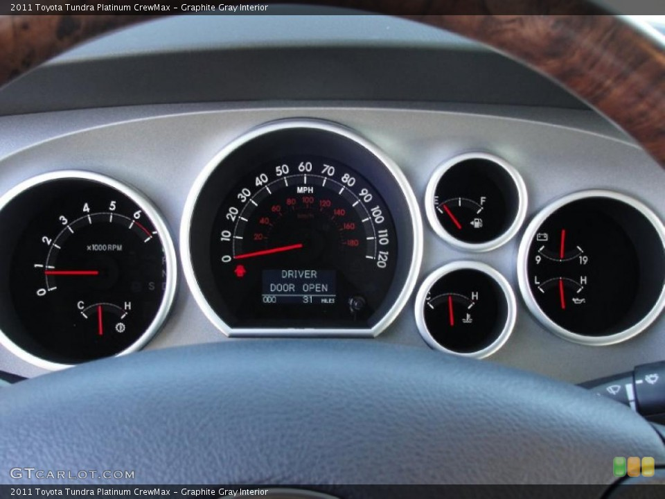 Graphite Gray Interior Gauges for the 2011 Toyota Tundra Platinum CrewMax #42660208