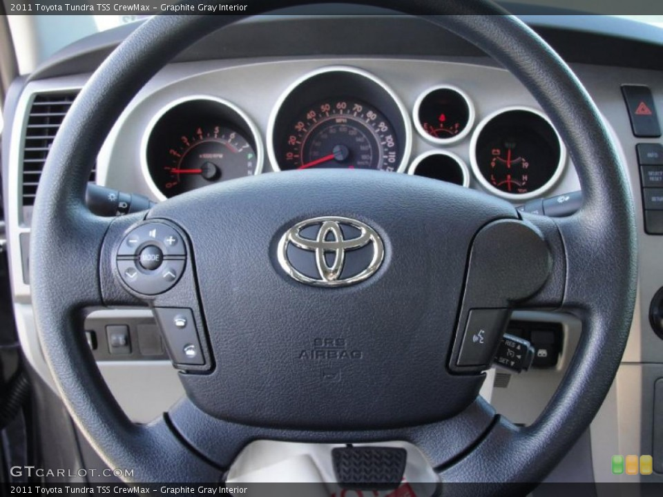 Graphite Gray Interior Steering Wheel for the 2011 Toyota Tundra TSS CrewMax #42661836