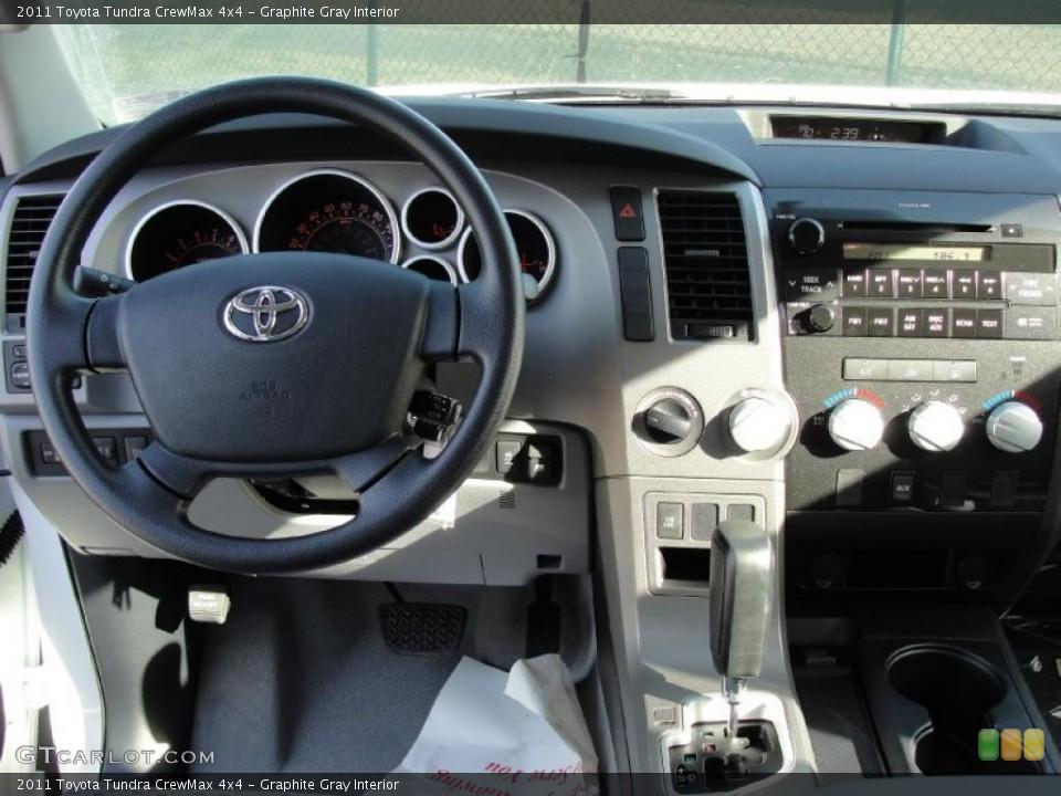 Graphite Gray Interior Dashboard for the 2011 Toyota Tundra CrewMax 4x4 #42662277