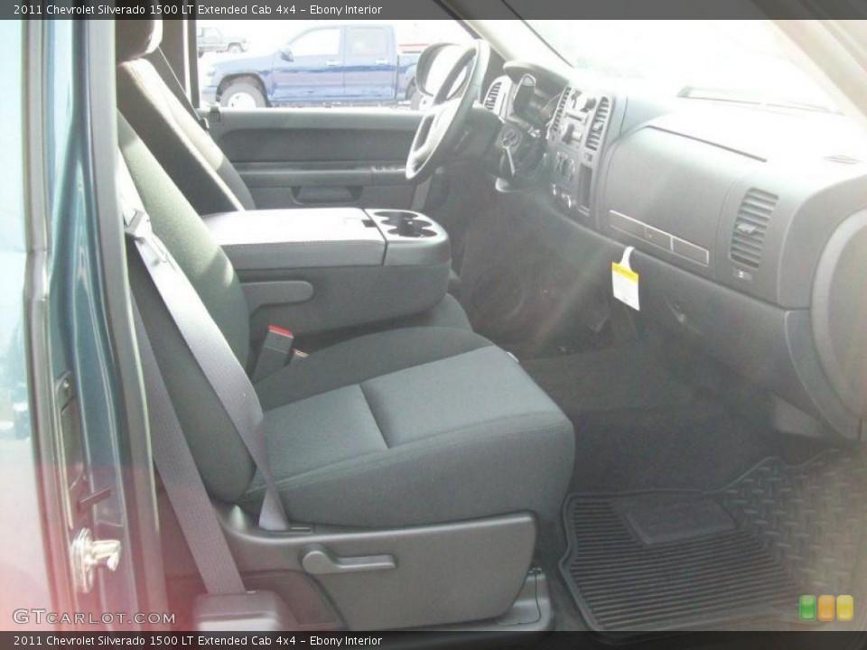 Ebony Interior Photo for the 2011 Chevrolet Silverado 1500 LT Extended Cab 4x4 #42787577