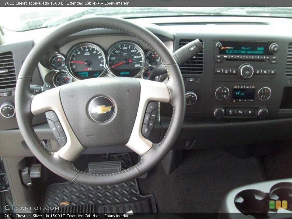 Ebony Interior Dashboard for the 2011 Chevrolet Silverado 1500 LT Extended Cab 4x4 #42787633