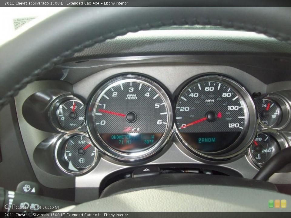 Ebony Interior Gauges for the 2011 Chevrolet Silverado 1500 LT Extended Cab 4x4 #42787853