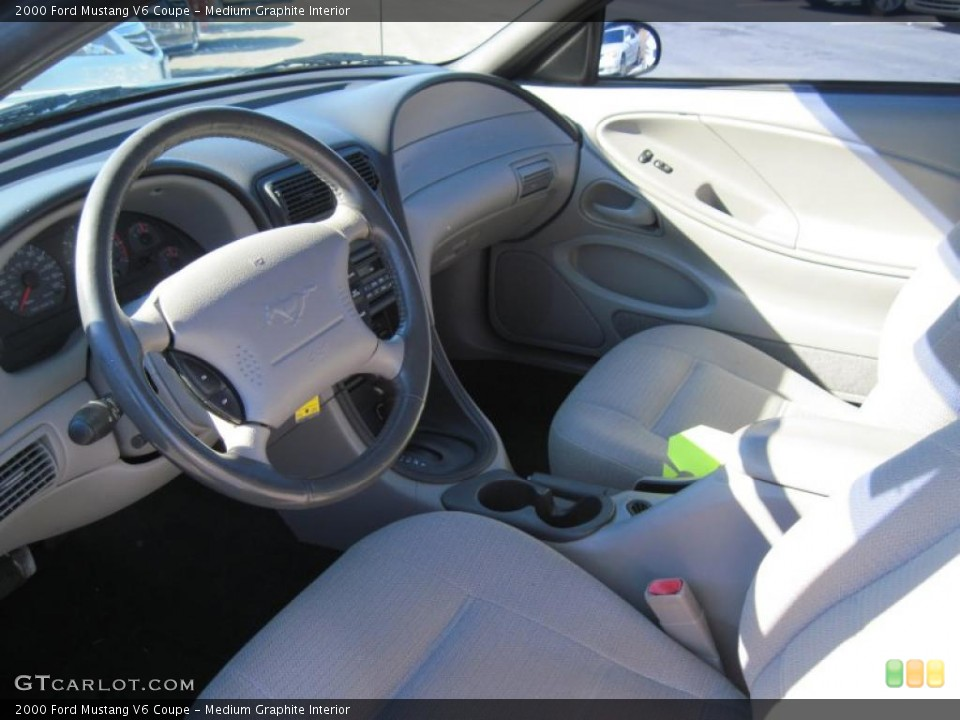 Medium Graphite Interior Prime Interior for the 2000 Ford Mustang V6 Coupe #43112304
