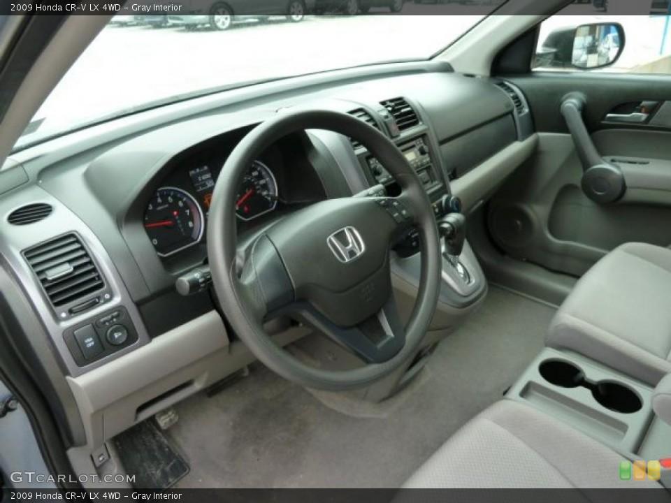 Gray Interior Prime Interior for the 2009 Honda CR-V LX 4WD #43238573