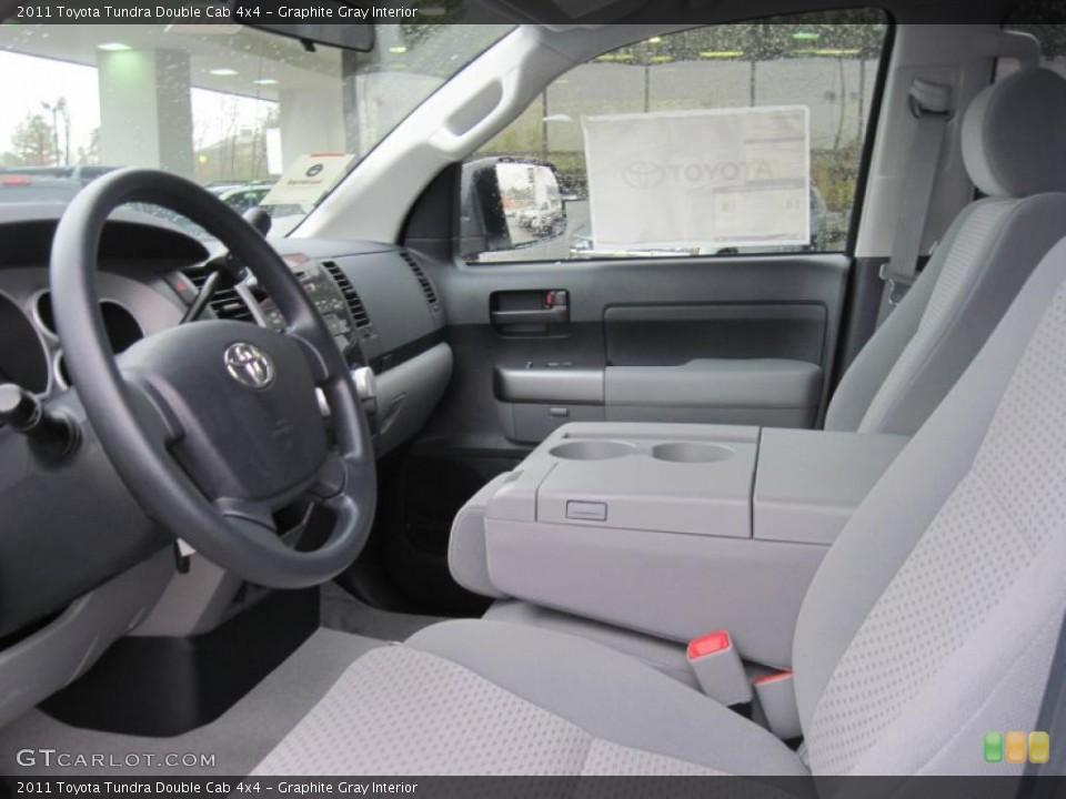 Graphite Gray Interior Photo for the 2011 Toyota Tundra Double Cab 4x4 #43278882