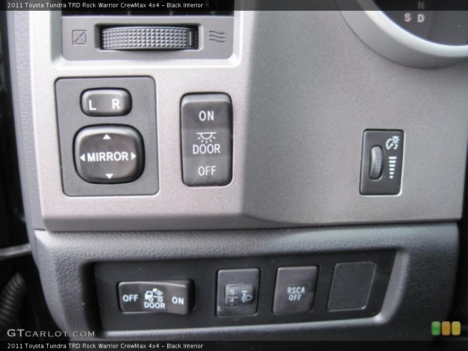 Black Interior Controls for the 2011 Toyota Tundra TRD Rock Warrior CrewMax 4x4 #43279166