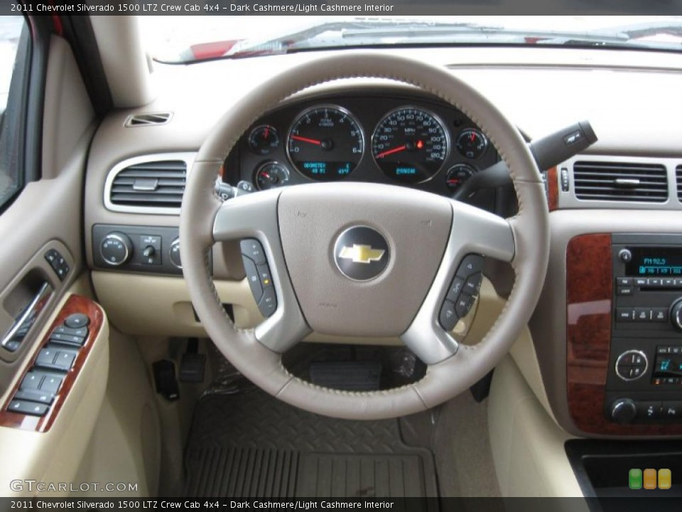 Dark Cashmere/Light Cashmere Interior Steering Wheel for the 2011 Chevrolet Silverado 1500 LTZ Crew Cab 4x4 #43287072
