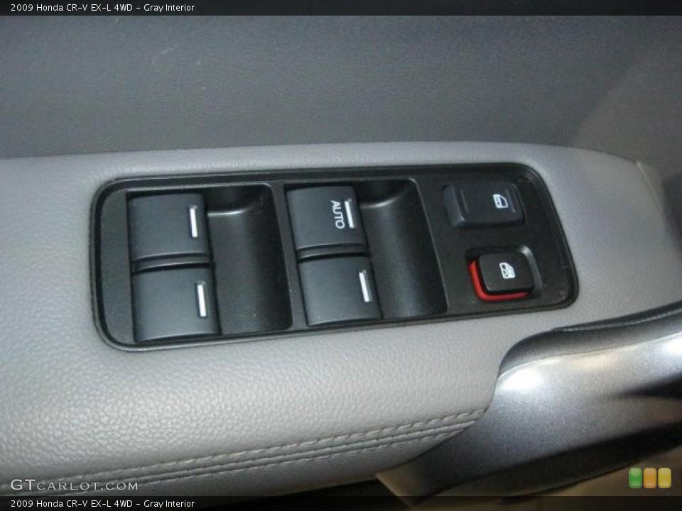 Gray Interior Controls for the 2009 Honda CR-V EX-L 4WD #43348339