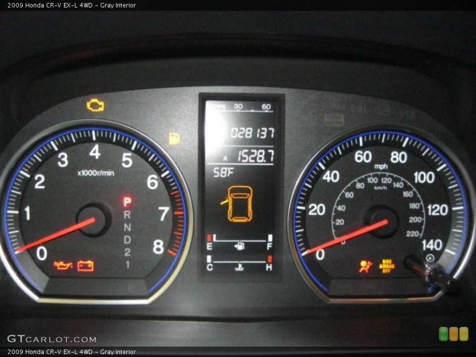 Gray Interior Gauges for the 2009 Honda CR-V EX-L 4WD #43348435