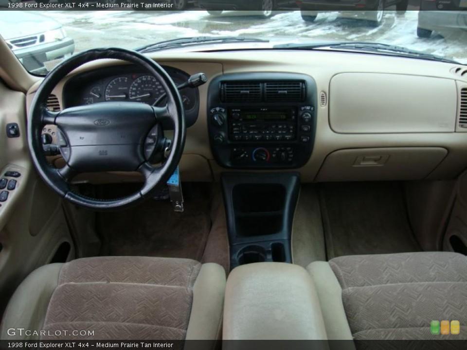 Medium Prairie Tan Interior Dashboard for the 1998 Ford Explorer XLT 4x4 #43370564