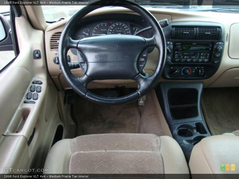 Medium Prairie Tan Interior Dashboard for the 1998 Ford Explorer XLT 4x4 #43370580