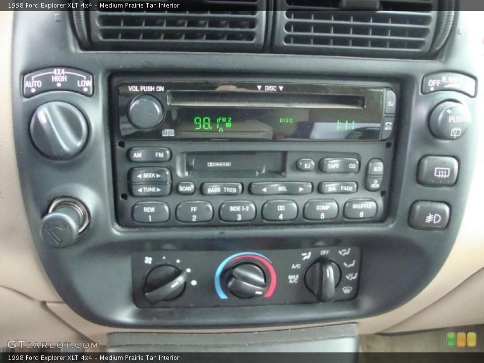 Medium Prairie Tan Interior Controls for the 1998 Ford Explorer XLT 4x4 #43370700