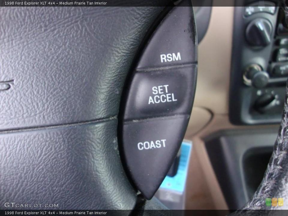 Medium Prairie Tan Interior Controls for the 1998 Ford Explorer XLT 4x4 #43370756