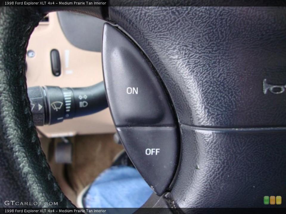 Medium Prairie Tan Interior Controls for the 1998 Ford Explorer XLT 4x4 #43370772