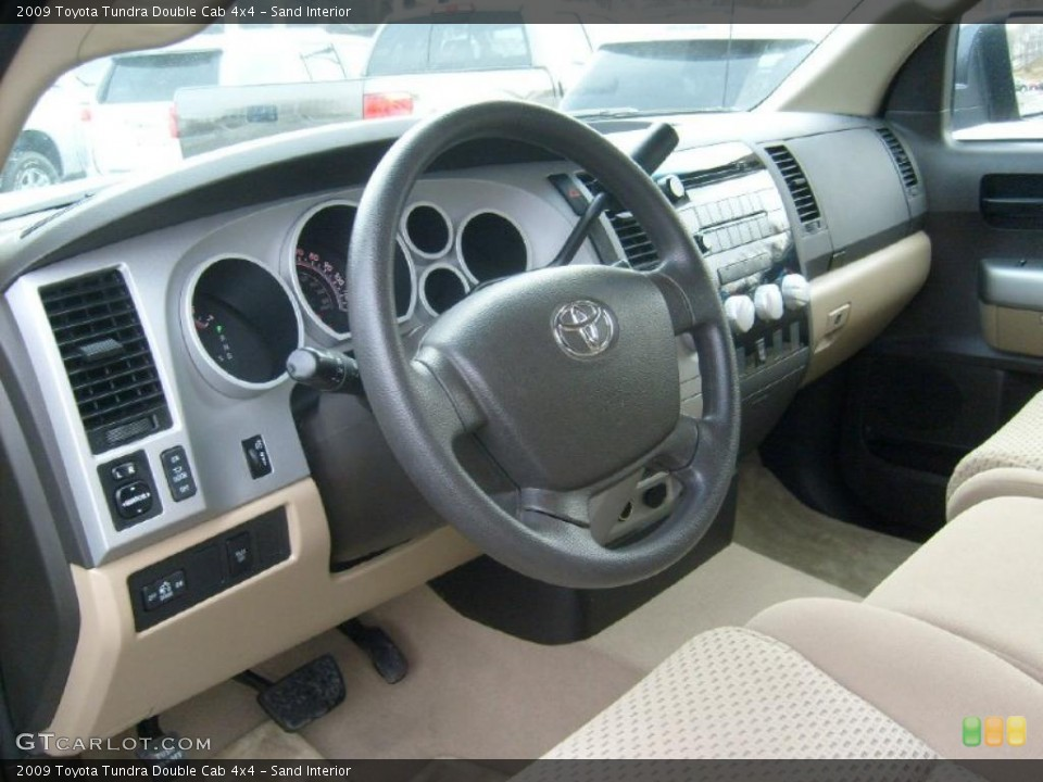 Sand Interior Dashboard for the 2009 Toyota Tundra Double Cab 4x4 #43389943