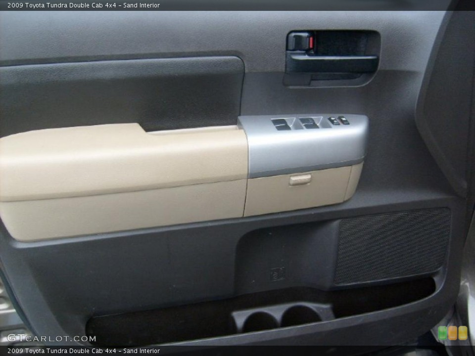 Sand Interior Door Panel for the 2009 Toyota Tundra Double Cab 4x4 #43389959