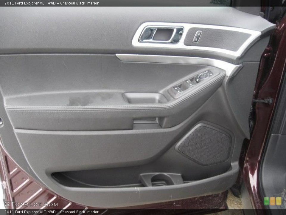 Charcoal Black Interior Door Panel for the 2011 Ford Explorer XLT 4WD #43472139