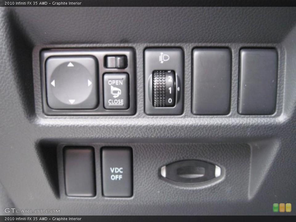 Graphite Interior Controls for the 2010 Infiniti FX 35 AWD #43484039