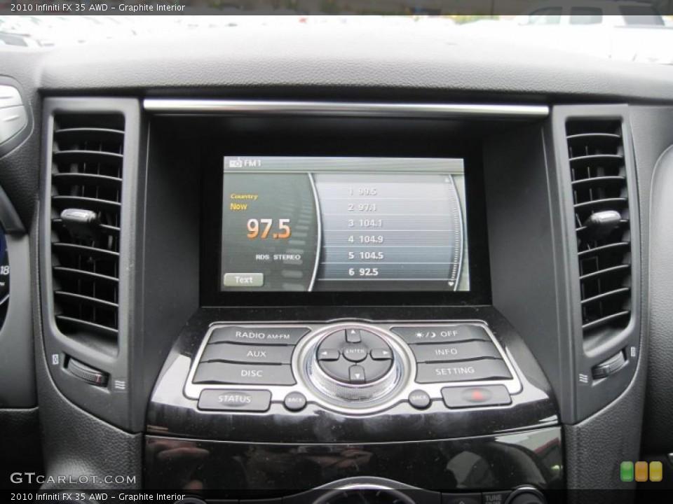 Graphite Interior Navigation for the 2010 Infiniti FX 35 AWD #43484163