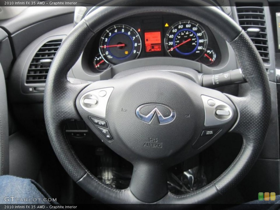 Graphite Interior Steering Wheel for the 2010 Infiniti FX 35 AWD #43484207