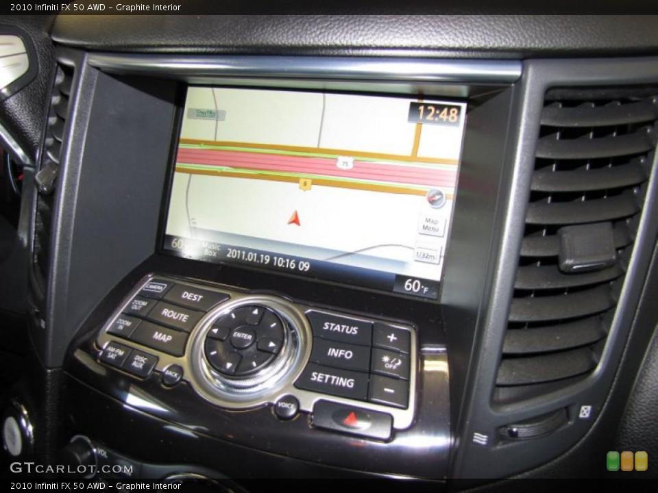 Graphite Interior Navigation for the 2010 Infiniti FX 50 AWD #43531932