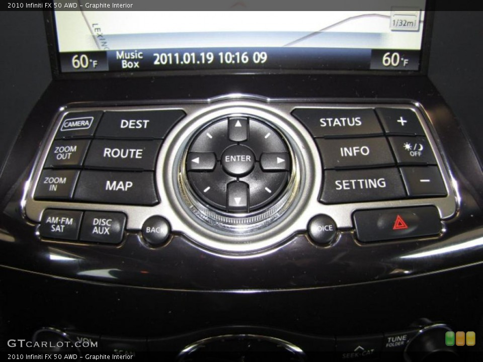 Graphite Interior Navigation for the 2010 Infiniti FX 50 AWD #43531952
