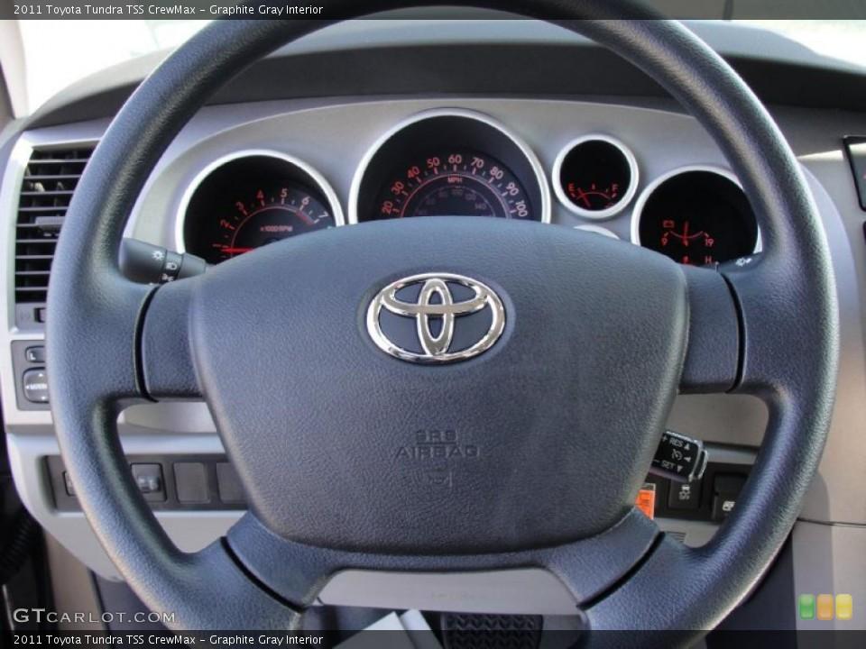 Graphite Gray Interior Steering Wheel for the 2011 Toyota Tundra TSS CrewMax #43540719