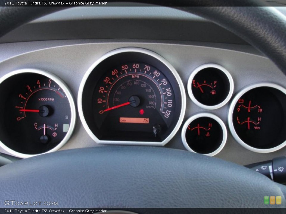 Graphite Gray Interior Gauges for the 2011 Toyota Tundra TSS CrewMax #43540731