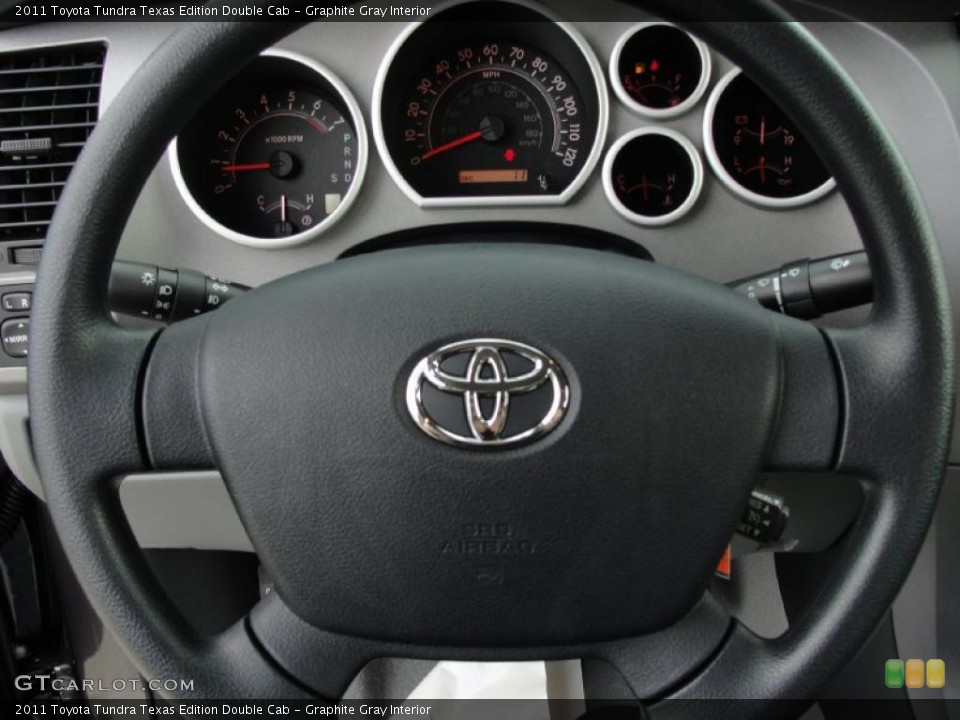 Graphite Gray Interior Steering Wheel for the 2011 Toyota Tundra Texas Edition Double Cab #43637376