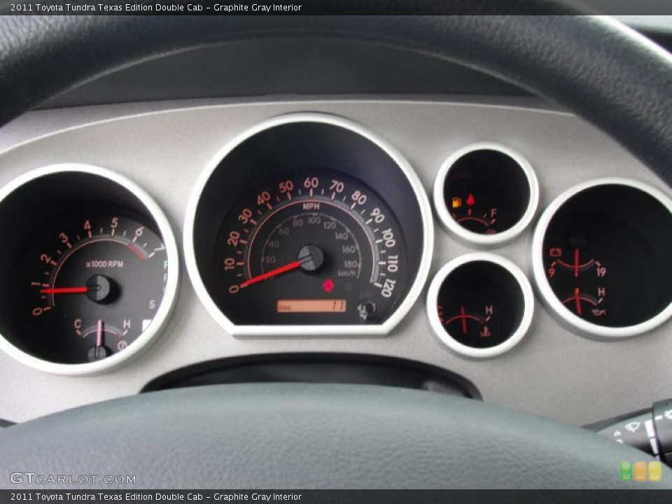 Graphite Gray Interior Gauges for the 2011 Toyota Tundra Texas Edition Double Cab #43637384