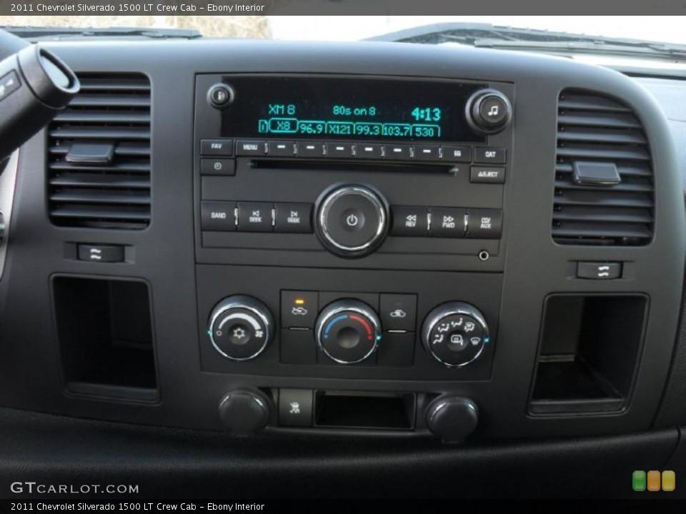 Ebony Interior Controls for the 2011 Chevrolet Silverado 1500 LT Crew Cab #44234065