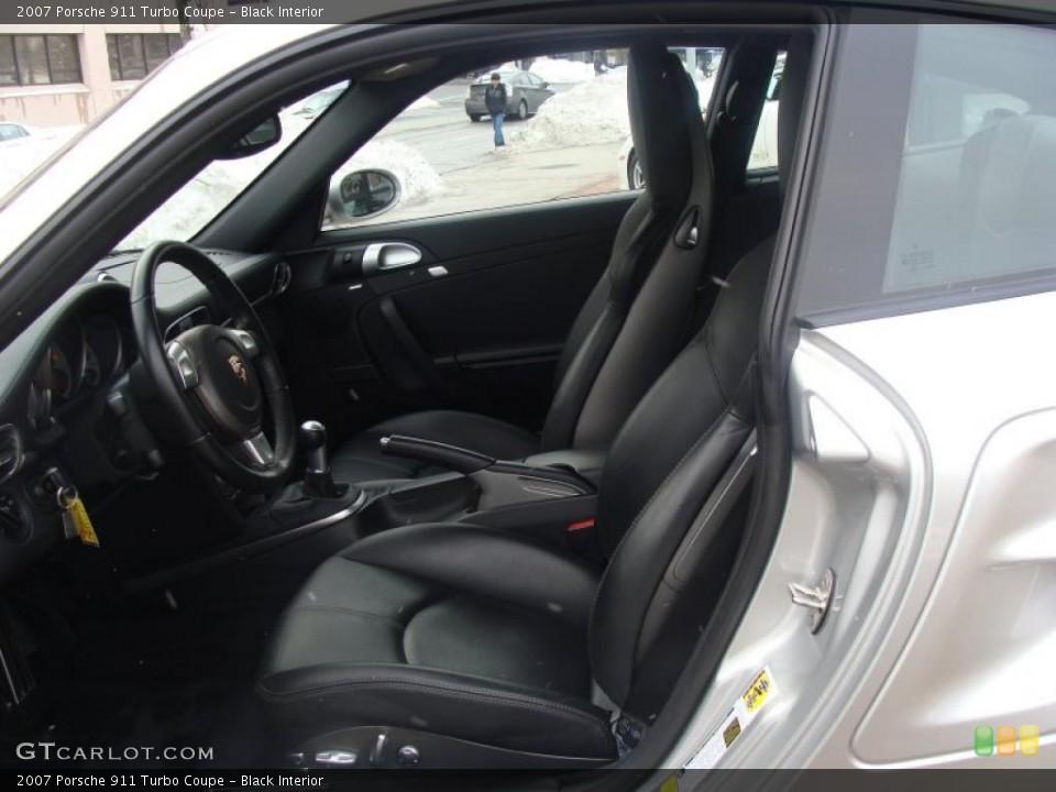 Black Interior Photo for the 2007 Porsche 911 Turbo Coupe #44280181
