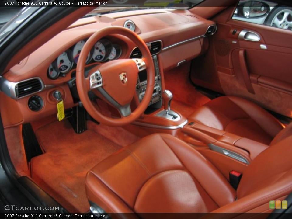 Terracotta 2007 Porsche 911 Interiors