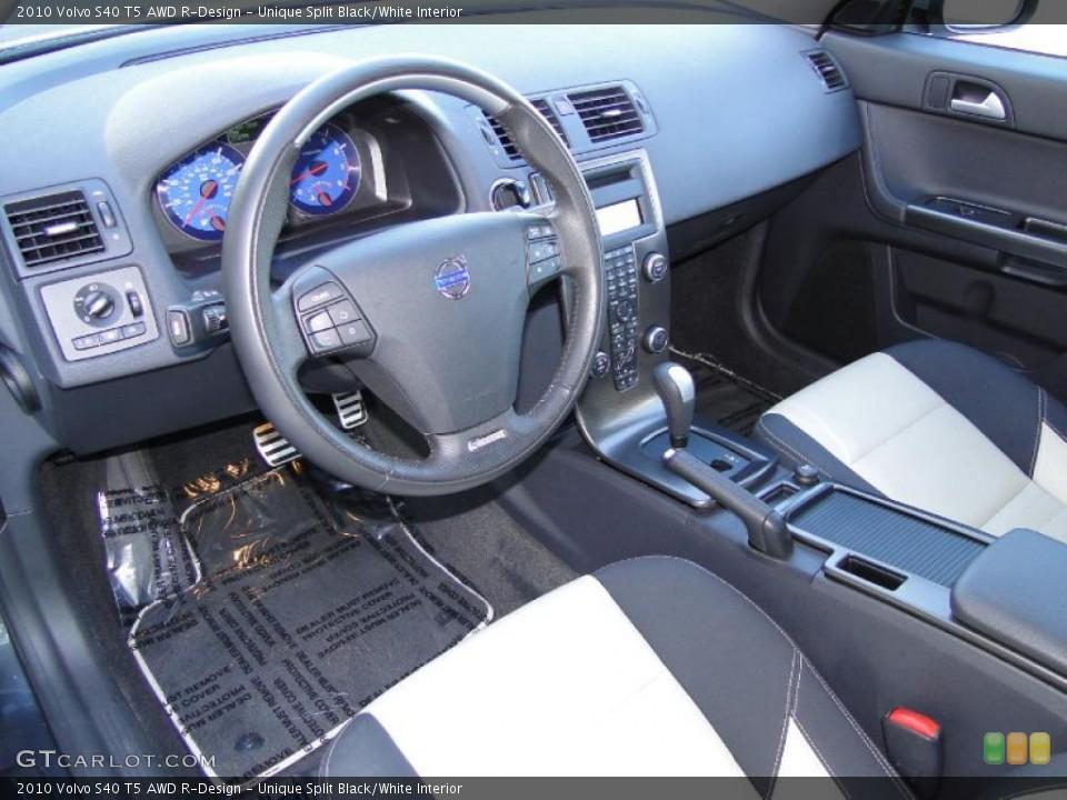 Unique Split Black White Interior Prime Interior For The 2010 Volvo S40 T5 Awd R Design 44445302 Gtcarlot Com