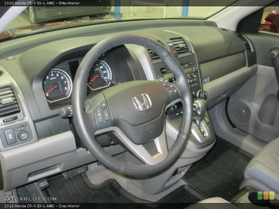 Gray Interior Dashboard for the 2010 Honda CR-V EX-L AWD #44699129