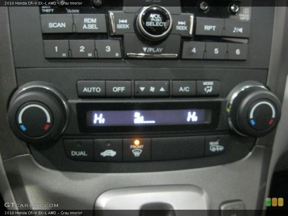 Gray Interior Controls for the 2010 Honda CR-V EX-L AWD #44699205