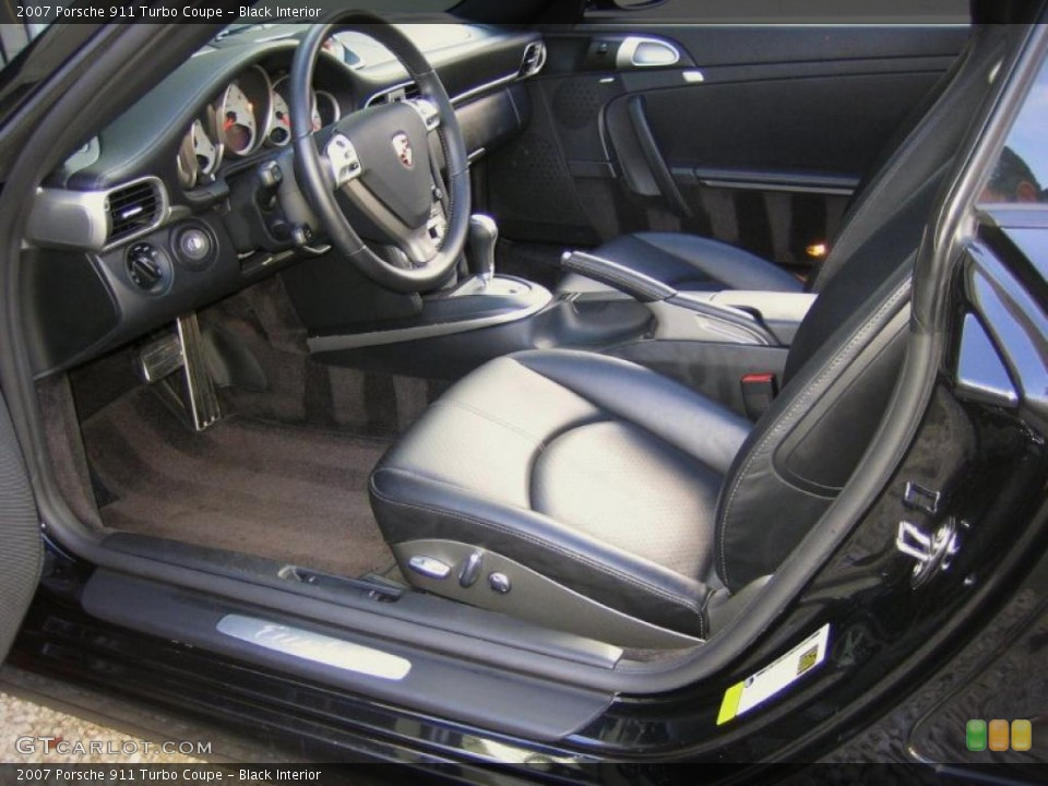 Black Interior Photo for the 2007 Porsche 911 Turbo Coupe #44775991