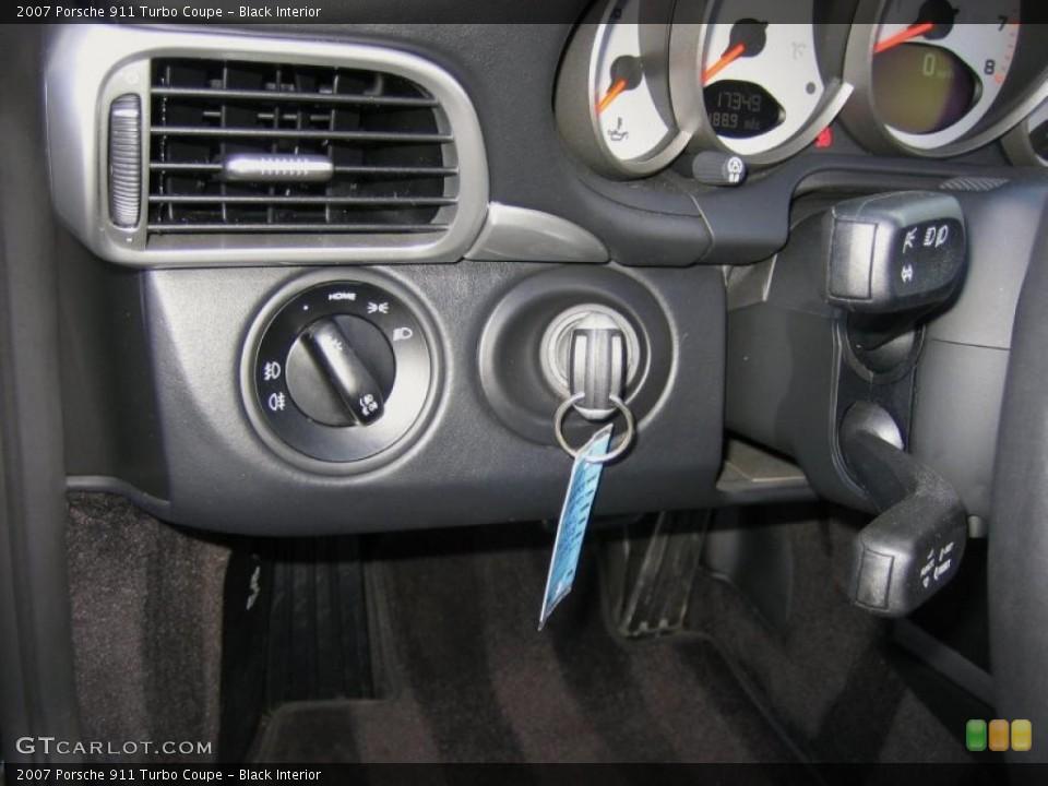 Black Interior Controls for the 2007 Porsche 911 Turbo Coupe #44776089