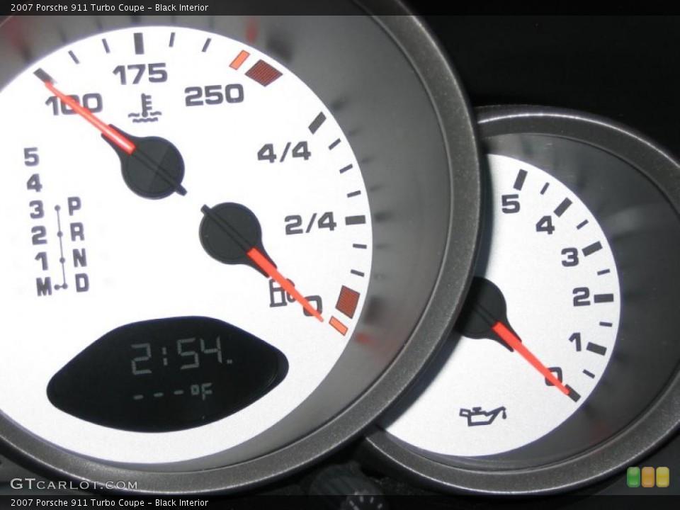 Black Interior Gauges for the 2007 Porsche 911 Turbo Coupe #44776153