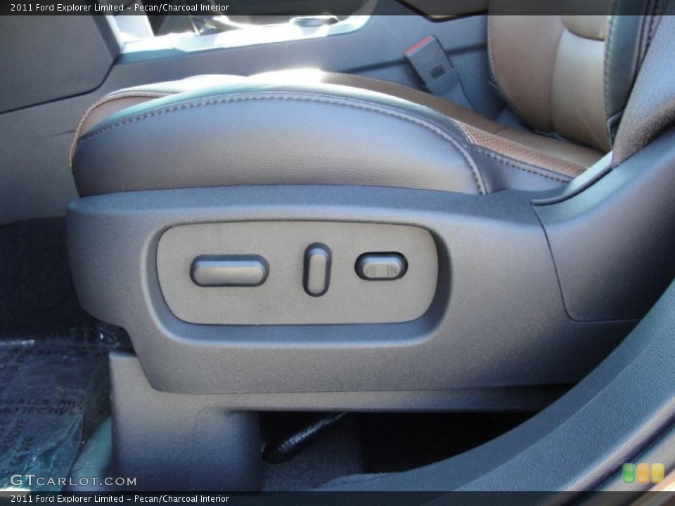Pecan/Charcoal Interior Controls for the 2011 Ford Explorer Limited #44781402