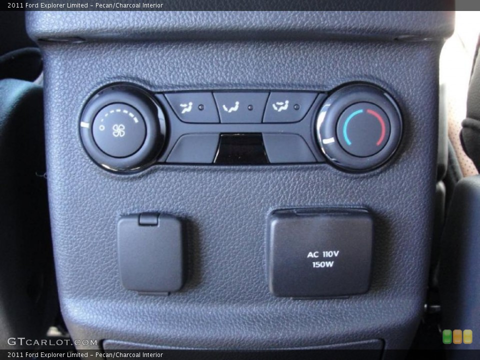 Pecan/Charcoal Interior Controls for the 2011 Ford Explorer Limited #44781419
