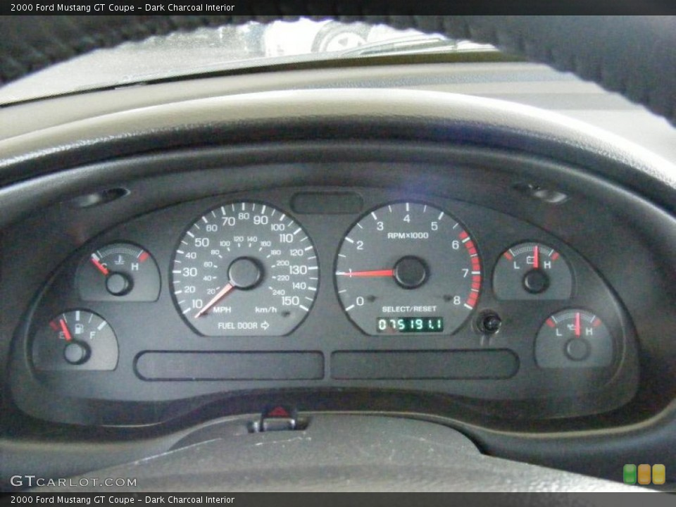Dark Charcoal Interior Gauges for the 2000 Ford Mustang GT Coupe #44802746