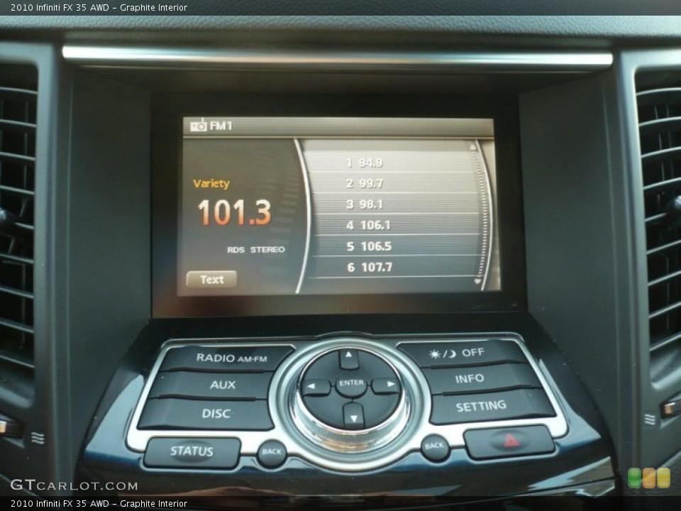 Graphite Interior Controls for the 2010 Infiniti FX 35 AWD #44843972