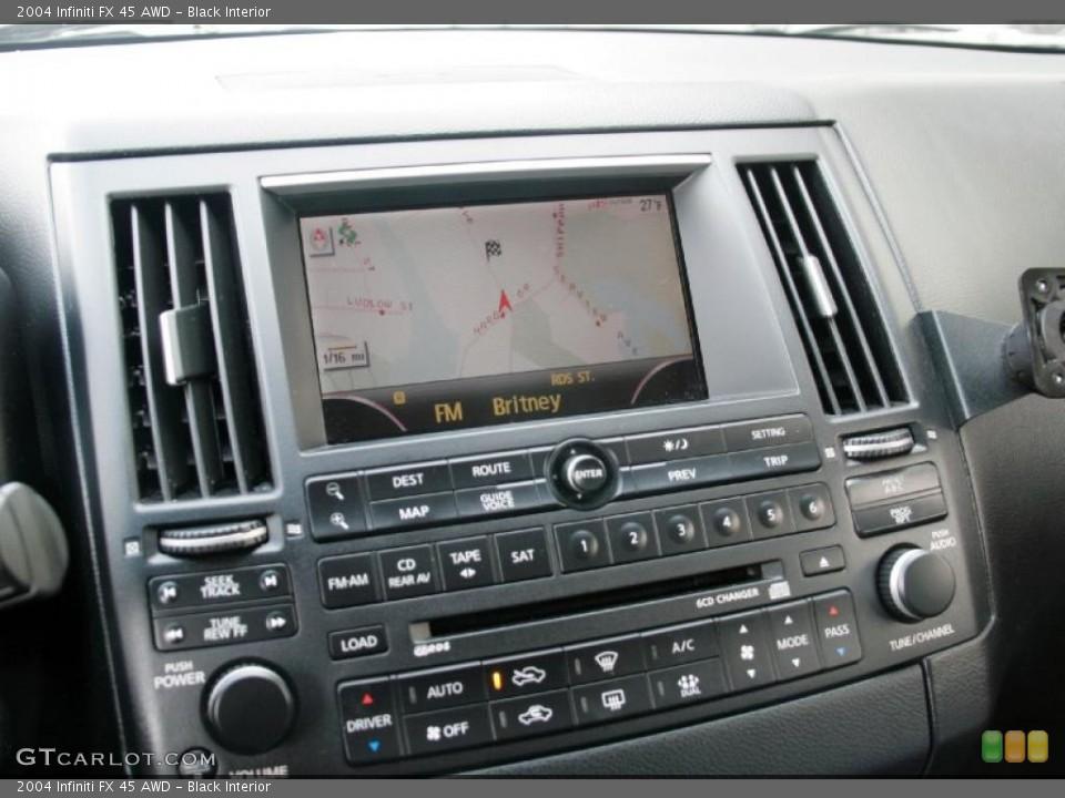 Black Interior Controls for the 2004 Infiniti FX 45 AWD #44882041