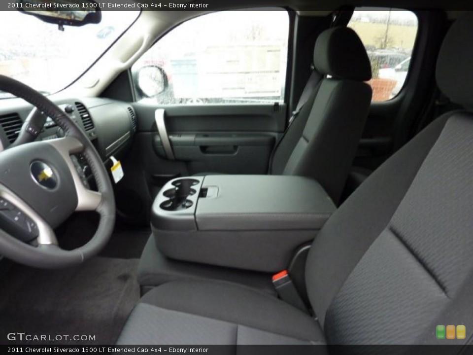 Ebony Interior Photo for the 2011 Chevrolet Silverado 1500 LT Extended Cab 4x4 #44932277