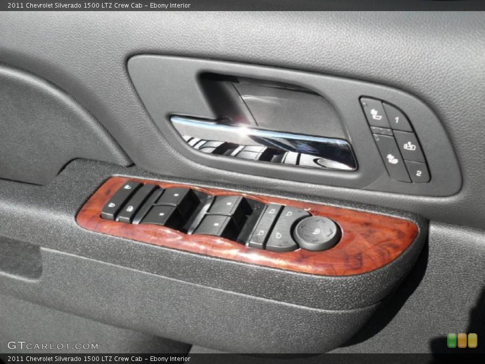 Ebony Interior Controls for the 2011 Chevrolet Silverado 1500 LTZ Crew Cab #44971561