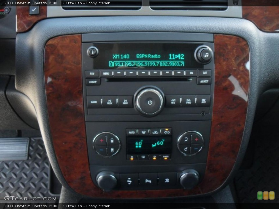 Ebony Interior Controls for the 2011 Chevrolet Silverado 1500 LTZ Crew Cab #44971577