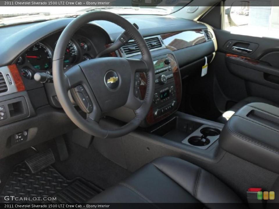 Ebony Interior Prime Interior for the 2011 Chevrolet Silverado 1500 LTZ Crew Cab #44971781